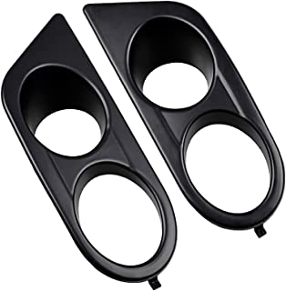 Astra Depot Left & Right Front Bumper Lower Fog Light Cover Compatible with 2001-2006 E46 M3 (Matte Black - Double Hole)