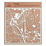 Brisbane Scherenschnitt Karte, Weiß 30x30 cm Papierkunst