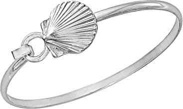 Cape Cod Jewelry-CCJ Scallop Shell Bracelet Sea Life Latch Cuff