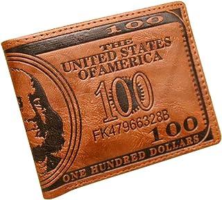 oulii Cartera Cartera Cartera de Tarjeta de crédito de Piel PU dólar Americano Fresco (Café Oscuro)
