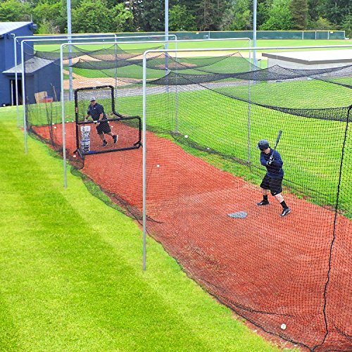 Jugs Batting Cage Nets – #60 Twisted Knotted Black Polyethylene