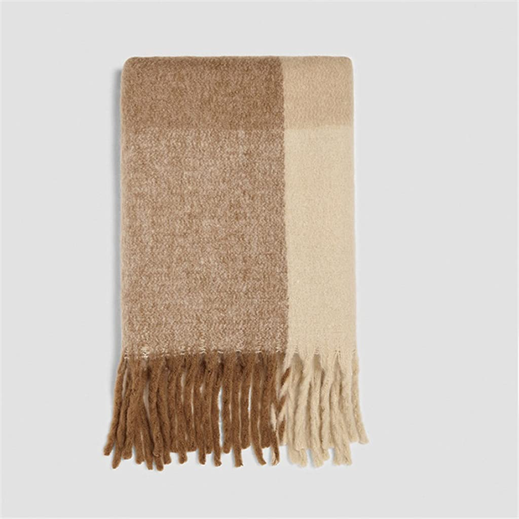 YCZDG Cashmere Women Plaid Regular discount Regular discount Scarf Winter Wraps Warm Ba and Shawls