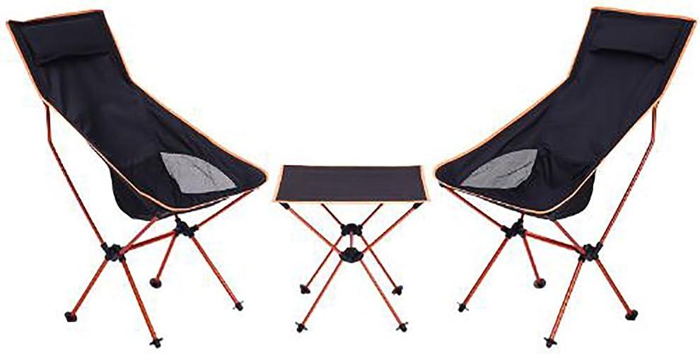KOKR Ensemble de Camping (Table Pliante avec 2 Chaises), pour Le Camping en Plein air de Pique-Nique
