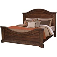 Deals on American Woodcrafters Stonebrook Tobacco Queen Panel Bed