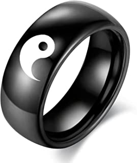 yin and yang engagement rings