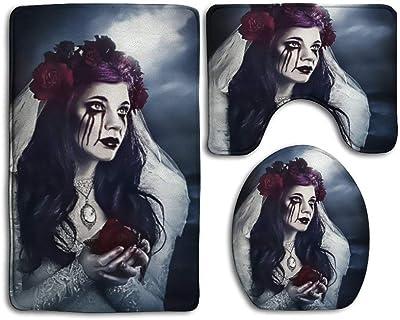 Amazon Com Funoshima Scary Creepy Spooky Happy Smiling Bath Mat 3