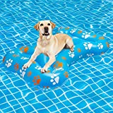 SCENEREAL Dog Pool Float Inflatable Ride-ons - Pool Raft Large Size Bone Shape Pet Summer Pool Swimming Toys for Dogs Water Games