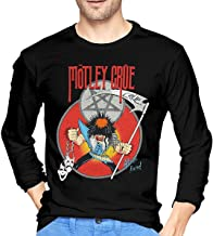 Whsduids Motley Crue Allister Fiend Mens Casual Slim Fit Basic Long Sleeve Fashion T-Shirt