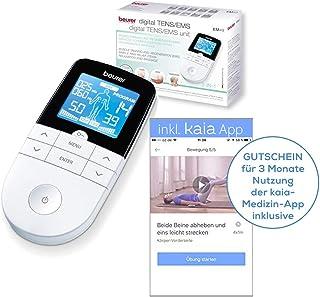 Beurer 662.06Beurer EM 49Digital TENS/EMS, nervios de eléctricos y estimulación muscular, incluye aplicación de Luchar contra Dolor de espalda Color Blanco