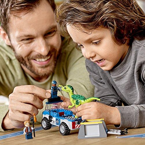 LEGO Juniors/4+ Jurassic World Raptor Rescue Truck 10757 Building Kit (85 Pieces)
