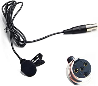 Nicama Omni-Directional Lavalier Microphone 4-pin XLR Output Compatible with Shure Wireless Microphone Belt Pack Transmitter T1, ULX1, UR1, PG1, PGX1, PGXD1, SLX1, BLX1, BLXD1