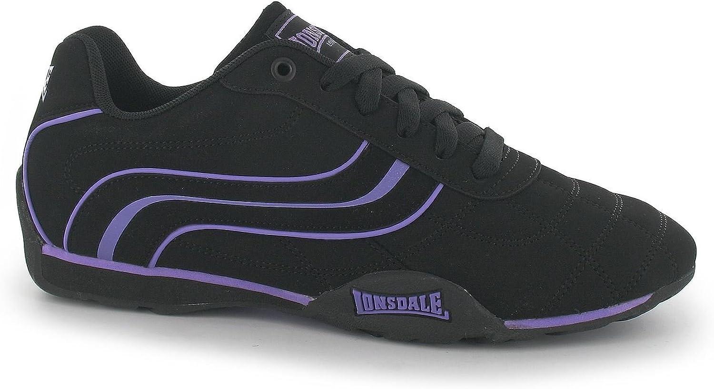 Lonsdale Camden Trainers kvinnor svart  lila Casual mode skor skor
