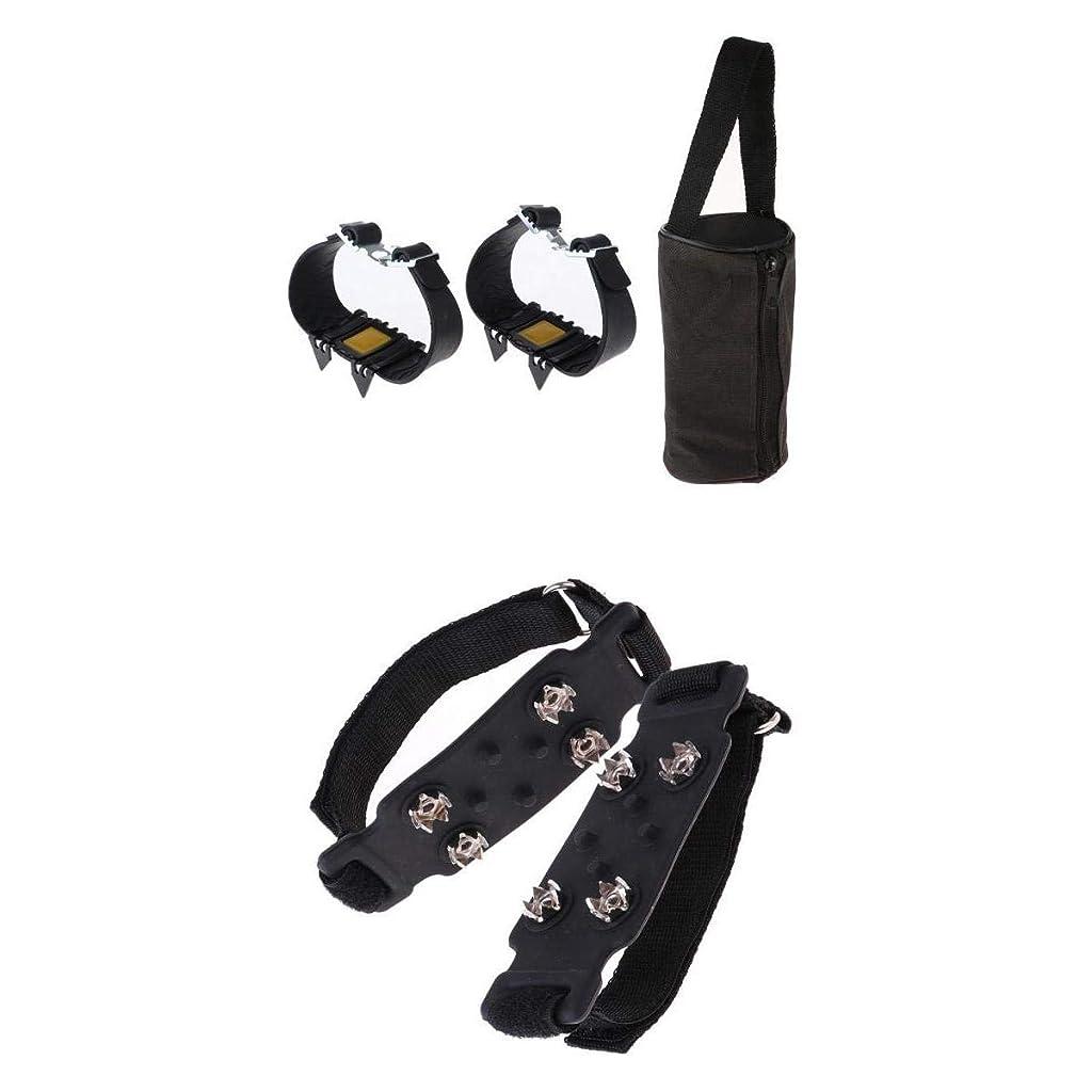 トークン取得するメインT TOOYFUL 滑り止めアイスクリート ハイキングブーツ用 アイゼン キャリーバッグ