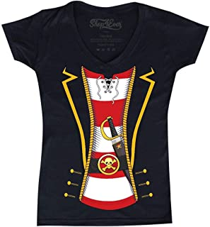Pirate Buccaneer Costume Women's V-Neck T-Shirt Slim Fit