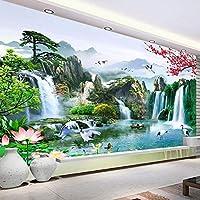 3D壁画壁紙滝自然風景写真壁画研究リビングルームソファテレビ背景家の装飾-200x140cm