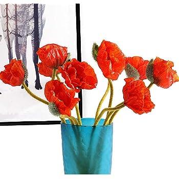Sullivans Artificial 21 Mini Poppy Extra Long Branch Red
