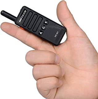 NKTECH Super Mini NK-M1 UHF 400-470MHz 16 Channels Handheld Ham Transceiver Two Way Radio Walkie Talkie 1200mAh 3.7V Li-ion Batteries Accessories Warranty Black