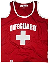LIFEGUARD Officially Licensed Guys Muscle Tank with Contrast Piping Edge 100% Cotton for Men