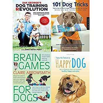 Dog training revolution 101 dog tricks brain games for dogs and how to have a happy dog 4 books collection set
