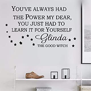 ikonan Wall Decal Sticker Art Mural Home Decor Quote You've Always Had The Power My Dear You Just Had to Learn It for Yourself for Nursery Kids Room
