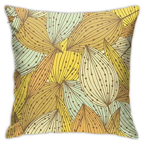 iksrgfvb Pillowcases Cushion Covers decoration Bark Elegant Floral Seamless Pattern Decorative Endless Linear on the Sofa car bed 45X45 CM