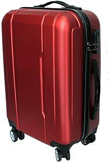 Maleta Avión Equipaje de Mano Viaje Cabina Trolley ABS Rígida 4 Ruedas 55x36x23 (Granate)