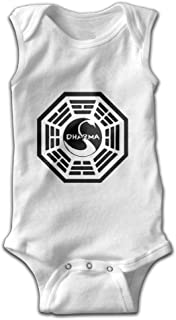 Fonsisi Unisex Baby Sleeveless Climbing Clothes Dharma Swan Logo Infant Rompers