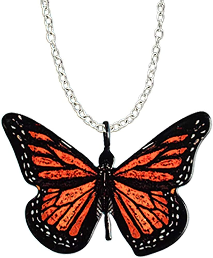 d'ears Monarch Butterfly-Shaped Necklace Stainless Steel 18