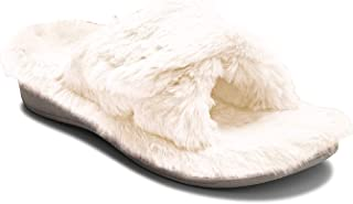 Vionic Women's Indulge Relax Plush Slipper - Adjustable Slipper with Concealed Orthotic Support