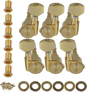 6R Self-Lock Guitar Tuners Tuning Pegswith Screws Gold