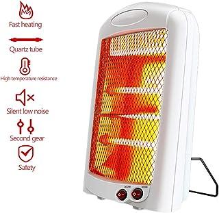 LTLJX Calefactor Eléctrico Radiador Halógeno, 600W Termoventiladores Estufa de Cuarzo Rápido Calentamiento 2 Niveles Antivuelco Protección