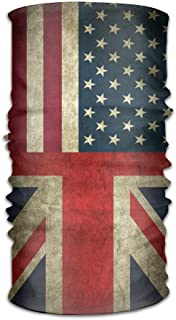 PIN American Flag and British Flag Scarf Headbands Bandana Mask Neck Gaiter Sweatband