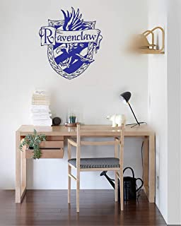 Wall Decor Stickers and I Think to Myself What a Wonderful World Vinyl Wall Decal Wall Stickers Art Decor Vinyl Peel and Stick Mural Removable Wall Sticker Decals 10x35 inch (Ravenclaw Crest Decals)