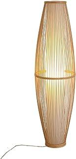 LXHLDD Lampadaire À Tambour, Lampadaire, Abat-Jour en Bambou, Lampadaire, pour Luminaire De Salon (Color : A)