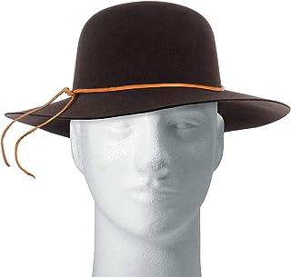 Sombrero en fieltro con cordón de cuero para hombre