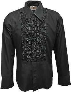 ruffled tuxedo t shirt