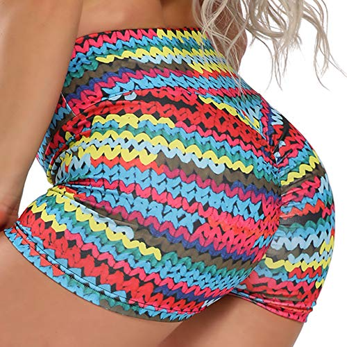 FITTOO - Pantalones cortos de deporte para mujer, ajustados, para fitness, jogging, yoga, con banda elástica Colores L