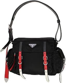 Prada Black Nylon Messenger Shoulder Bag 1BD118 Nero