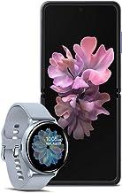 $1572 » Samsung Galaxy Z Flip Factory Unlocked 256GB,Mirror Purple with Galaxy Watch Active2 W/Enhanced Sleep Tracking Analysis,Silver