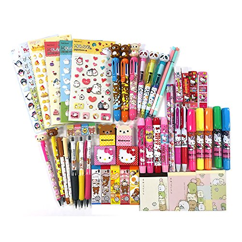 10 of Assorted School Supply Stationery Set Surprise Blind Gift Set GOODY BAG(+ 2 FREE Gifts) Total 12 Items!