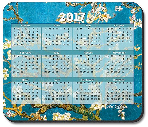 Van Gogh - Almond Blossoms Mouse Pad - with 2017 Calendar
