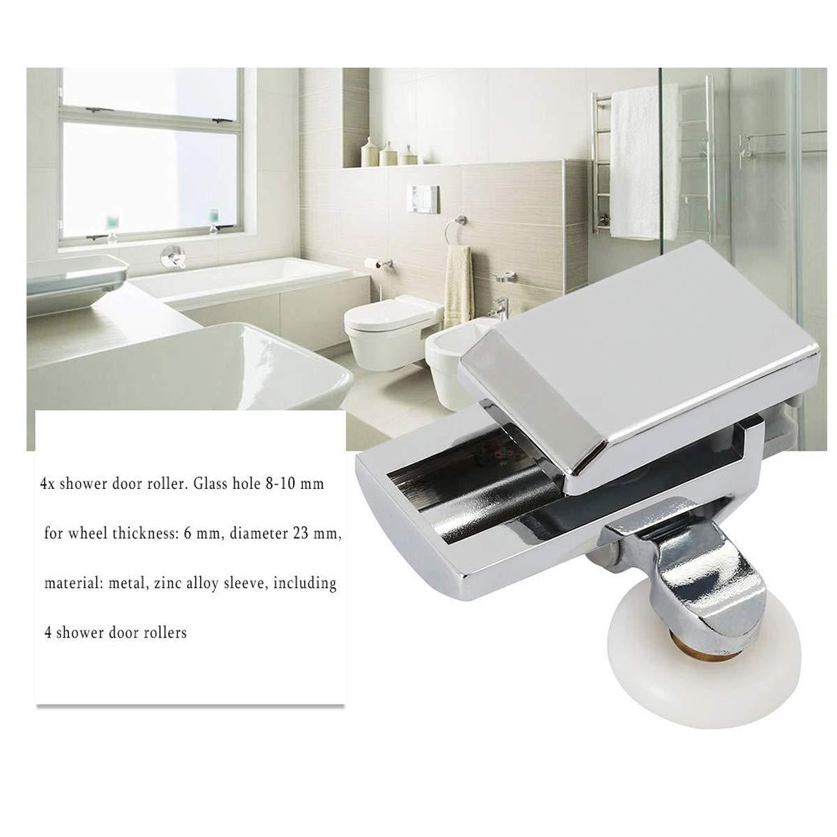 SET OF 4 SLIDING SHOWER DOOR BATHROOM ROLLERS//RUNNERS//WHEELS 23MM DIAMETER