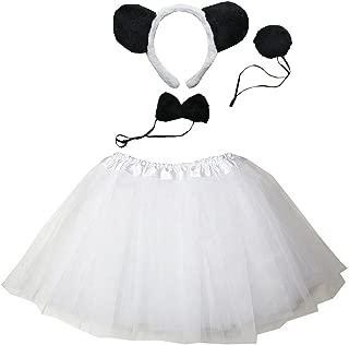 Kids Animal Costume Ears Headband Bowtie Tail Tutu Set