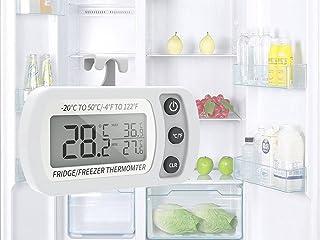 Thermomètre numérique pour réfrigérateur, thermomètre étanche pour congélateur avec crochet, affichage ACL facile à lire, ...
