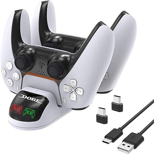 FASTSNAIL Chargeur Manette PS5, Station de Chargement Compatible avec Manettes DualSense Playstation 5, Station de Ch...