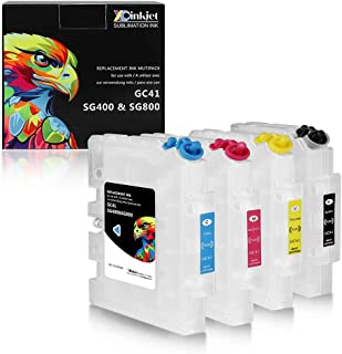 Xcinkjet GC41 GC 41 Refillable Ink Cartridge for Ricoh SG 3100 3100SNW 3110 3110DN 3110DNW 3110SFNW 3110SNW 7100 7100DN 2100 21OON 2010L Printer