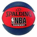 Spalding NBA Highlight - Balón de baloncesto, color blanco, rojo y azul marino