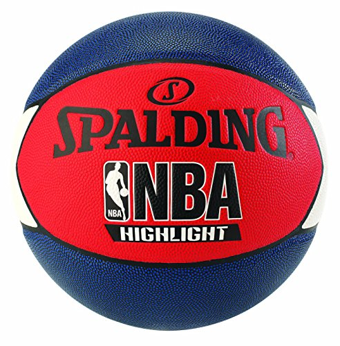 Spalding Uni NBA Highlight Outdoor SZ.7 (83 – 573z) Basketball, Navy/Rosso/Bianco, 7.0