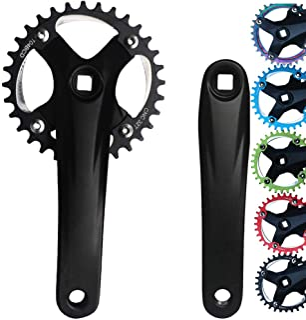 Lopbinte 1 Pair Bicycle Crankset Crank Arm BCD 104mm CNC 170 mm Crank Set Mountain Road Bike Crankset Bicycle Repair Parts