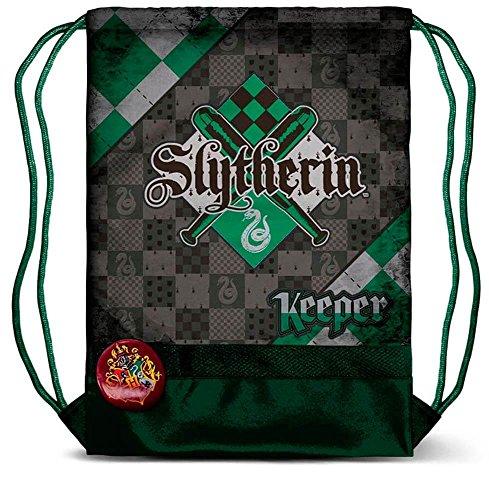 Karactermania Harry Potter Quidditch Slytherin-Storm Drawstring Bag Turnbeutel, 47 cm, Grün (Green)
